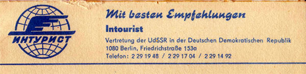 intourist in der ddr
